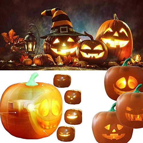 BDFH Talking Animated Led Atmosphere Pumpkin Light - 3 in 1 Rollen Seltsame, Traditionelle Und Lustige, Singende Flash Pumpkin Light USB Plug'n Play 16 * 16 * 16 cm /1 STÜCK