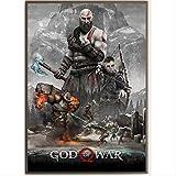 God of War 4 Game Poster Figure Pinturas Decorativas HD Print Poster Painting Canvas Art para La Decoración del Hogar Wall Art 50 × 70Cm Sin Marco