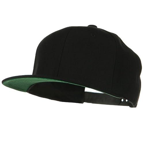 Wool Blend Prostyle Snapback Cap - Black W41S71B b0730cc3f74