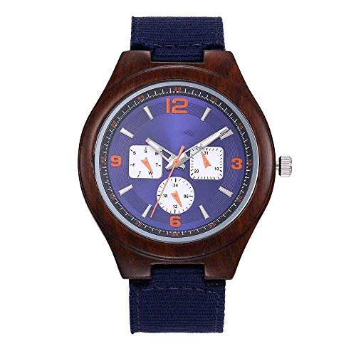 Thumby Praktische Polshorloges Unisex Six-Pin Bamboe Horloge Eenvoudige Nylon Riem Horloge Plexiglas Spiegel Dames Horloge decoratieve Horloge Armband BRON