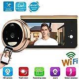 WiFi Digital Door Viewer, videoportero inalámbrico con Pantalla LCD de 4.3 Pulgadas + cámara HD de...