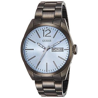 Guess W0657G1 - Reloj con correa de piel multicolor, para hombre, esfera de color azul