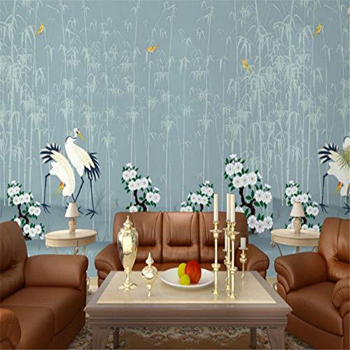 Wallpapers Muurschildering Chinese Stijl Muren Behang 3D Stereoscopische Bloemetjes Vogels Muurpapieren Bloemen Bamboe Boom Fotomuurschilderingen Woonkamer Muren 350 * 245cm