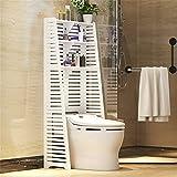 HYY-YY Ripiani da bagno sopra la toilette Scaffale Utility Delicato cava 3 ripiani bagno del risparmiatore dello spazio bagno Organizer for la casa doccia Caddy Shelf (Colore: Bianco, Dimensione: 60 x
