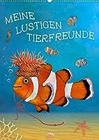 Meine lustigen Tierfeunde (Wandkalender 2022 DIN A2 hoch): Witzige und fantasievolle Geschichten mit Tieren zum Liebhaben (Monatskalender, 14 Seiten )