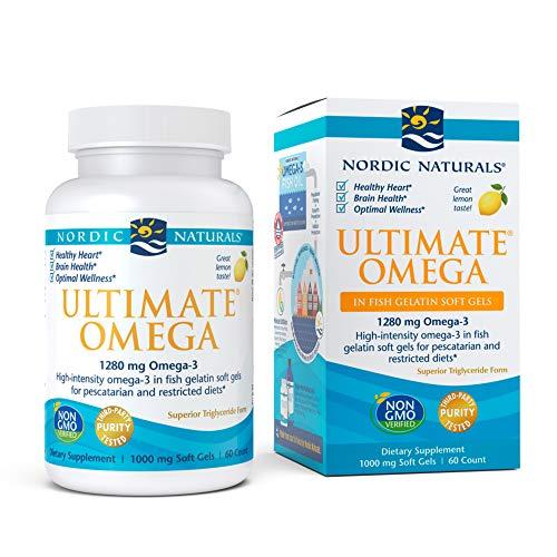 Nordic Naturals Ultimate Omega Softgels, 1280 mg, Lemon, 60 Capsules