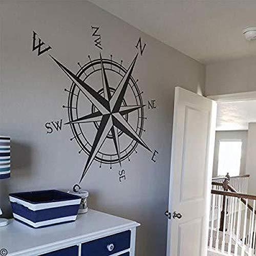 JXLLCD kompas Europa en Amerika antieke instrumenten zeilen muursticker slaapkamer voor kinderen school muursticker 57 x 57 cm