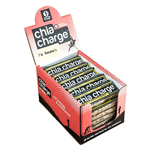 Chia Charge energía plátano panqueques - 20 x 80g barras de energía saludable - snack-bar - banana - las semillas de chía