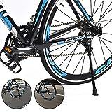 QHYK Béquille de Vélo réglable Universelle, Alliage d'aluminium Béquille avec Pied en Caoutchouc antidérapant et clé hexagonale, Universal Kickstand pour VTT, vélo de Courseet vélo Pliant 24-28 Pouce
