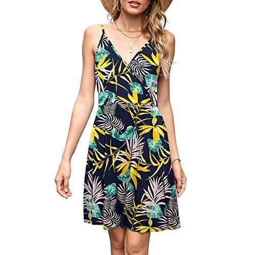 Women's Spaghetti Strap Dress Summer V-Neck...