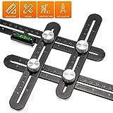 Angle Vorlage Werkzeug, ROTEK Winkelmesser Aluminium-Legierung Metall Werkzeug Lineal, Winkel...