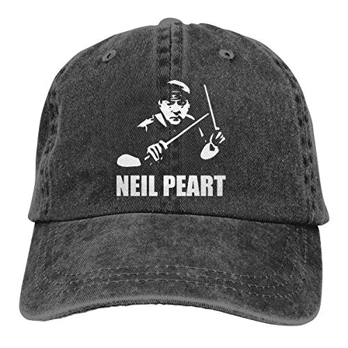 Neil-Peart in Loving Memory Greatest Drummer Denim Baseball Cap Mens Classic Adjustable Trucker Hat