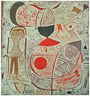 Printed Sheet with Pictures 1937 Paul Klee Abstract Contemporary Figure Face Print Poster 11x14