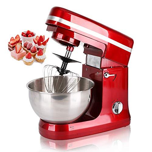 XIEZI Batidora Batidora Batidora De Pie, Máquina De Cocción Multifuncional, Batidora Doméstica, Máquina Mezcladora De Velocidad Ajustable De 6 Velocidades, Rojo