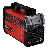 AMICO POWER TIG200DC 200 Amp TIG Torch/Arc/Stick DC Inverter Welding Machine, Red