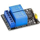 AZDelivery Modulo 2 Relé 2 Channel Relay 5V con Optoaccoppiatore per Arduino con eBook
