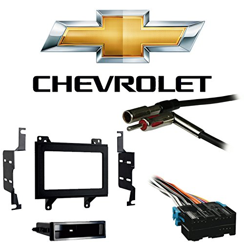 Compatible with Chevy S 10 Pickup 1994 1995 1996 1997 Double DIN Stereo Harness Radio Install Dash Kit Package