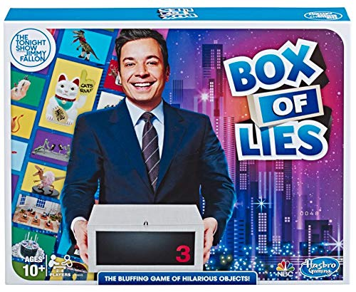 Hasbro Gaming The Tonight Show Starring Jimmy Fallon Box of Lies Party Game for Teens and Adults JungleDealsBlog.com