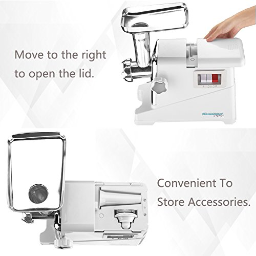 Electric Meat Grinder, Meats Mincer with 3 Grinding Plates and Sausage...