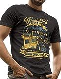 LeRage Nuclear Wasteland Shirt Post Apocalyptic Videogame Tee Men's Large Black