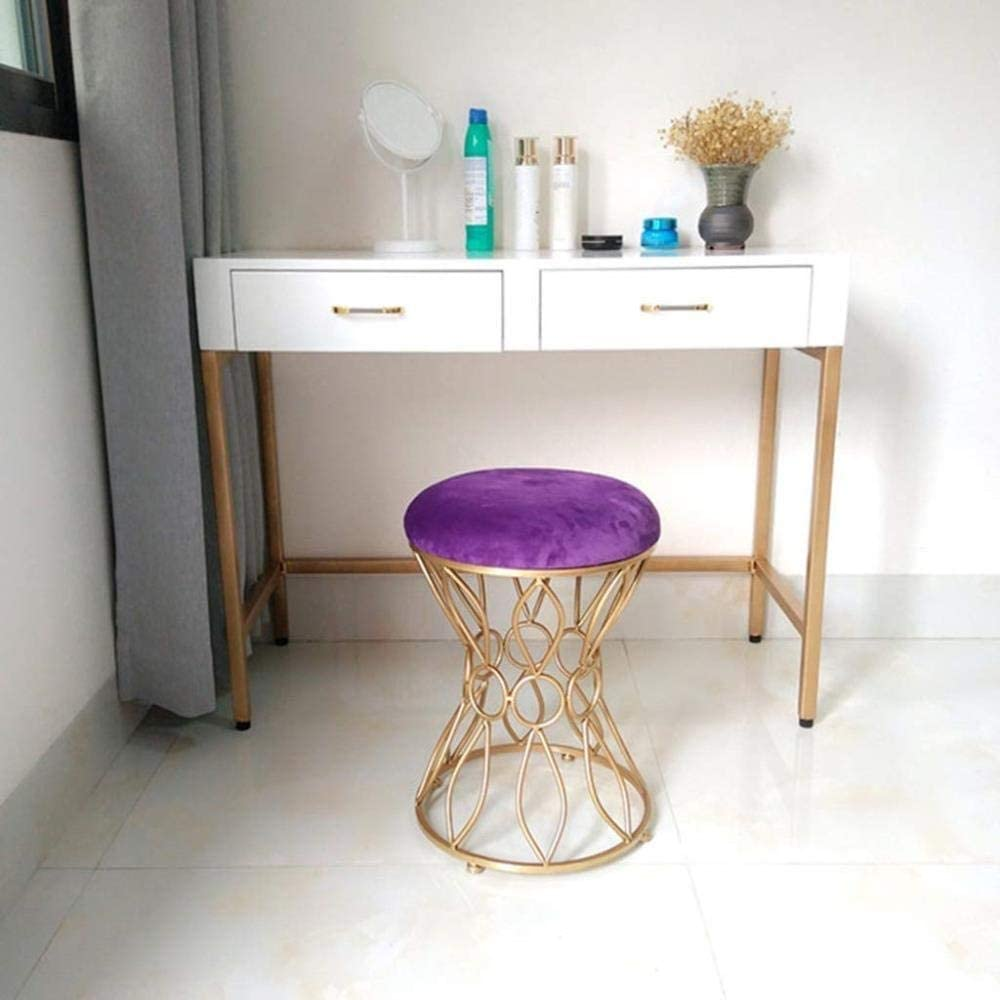 Stable Chaise De Barbier Contemporain Canapé-lit Habiller Tabouret De Table Princesse Chaise Fer Chaise Manucure Durable (Color : A) E
