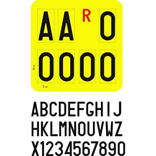Serie Completa Di Lettere Adesive Per Targa Ripetitrice