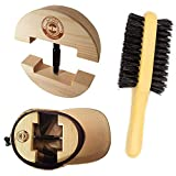 HAT MATE Premium Hat Stretcher with Bonus Hat Brush Solid Wood, One Size Fits All, Heavy Duty, Hat Stretchers & Clothes Brush,Hat Jack, Cowboy, Fedora, Baseball, Up Straw, Womens Mens Caps Cream
