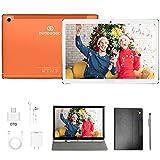 Tablet 10.8 Pulgadas, Diez núcleos 4GB de RAM y 64 GB/512GB ROM 5G WiFi Tableta Android 10 Resolución 2560 * 1600, Certificación Google GMS, Dobles SIM, GPS, Tablet 10.8' Baratas y Buenas (Naranja)