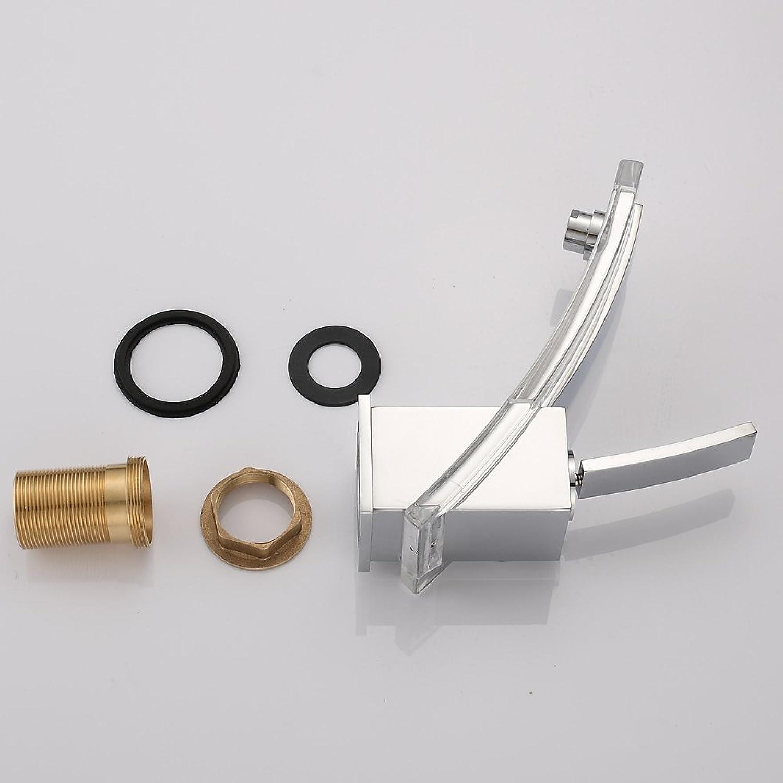 IFELGUD younger modern bathroom faucet basin mixer brass glass tap Chromed