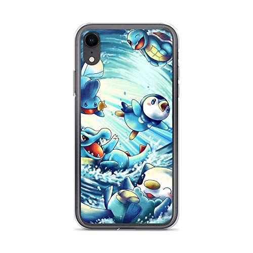 Topclouds Compatibile con iPhone 7 Plus/8 Plus Custodie Squirtle Water Pikachu Pure Clear Soft TPU Protection Custodie per Telefoni Cover