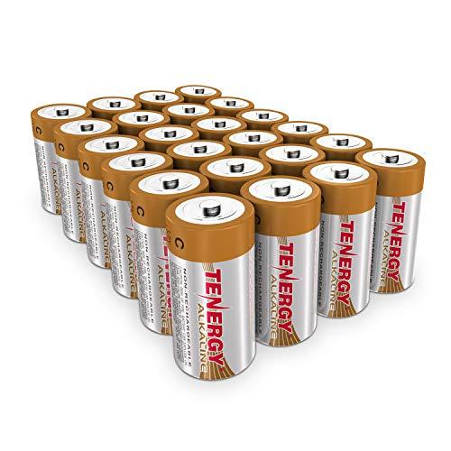 Tenergy 1.5V C Alkaline LR14 Battery, High Performance C Non-Rechargeable...