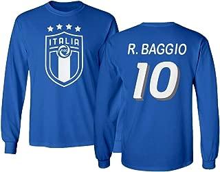 Tcamp Soccer Legends #10 Roberto Baggio Jersey Style Men's Long Sleeve T-Shirt
