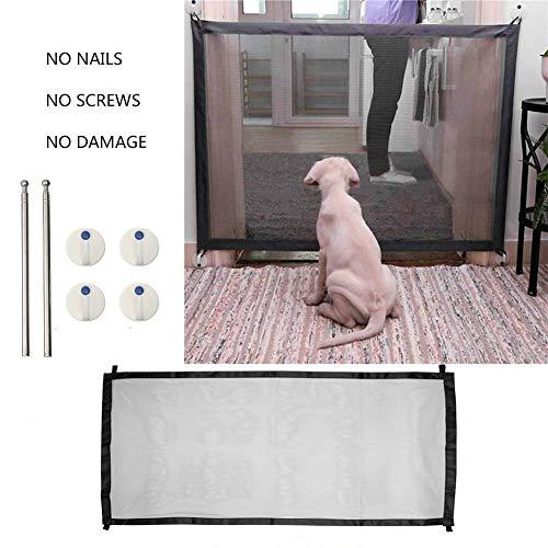 OSAYES 182 * 72cm Perro Puerta Puerta Plegable portatil Magic Pet Protector...