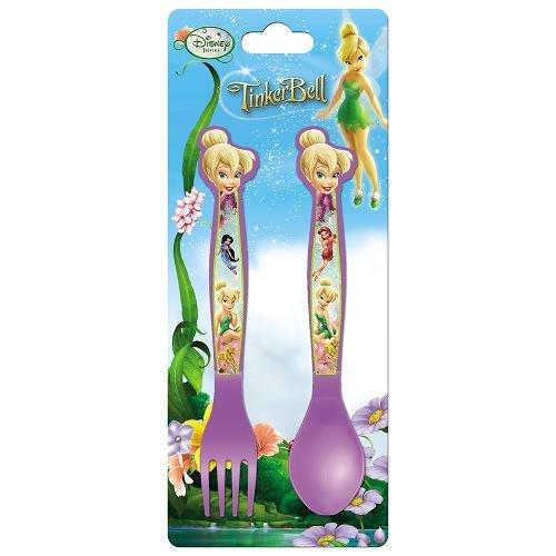 Joy Toy 732616 Ensemble de coutellerie Fairies 3 Pieces en Plastique, Multicolore, 5 cm