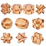 My childlike 10 pcs/Set 3D Handmade Vintage KongMing Lock Luban Lock Bamboo Toys Adults Puzzle Children Adult Birthday