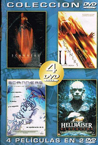 COLECCIÓN 4 PELÍCULAS EN 2 DVD, SCANNERS / POSTMORTEM / EL FARO DEL SUR / DONDE ESTE EL DINERO
