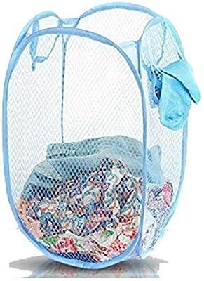 Kuber Industries Nylon Mesh Laundry Basket,30Ltr (Multi)-CTKTC21478