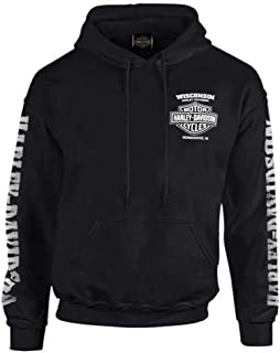 Men's Lightning Crest Pullover Hooded Sweatshirt, Black