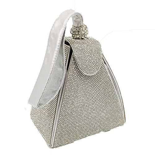 Warm Home Dames Strass Pailletten Banket Koppeling Piramide Hot Boor Nacht Tote Grootte: 14 * 10 * 12cm