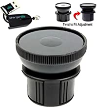 "Universal Vehicle Drinks Cup Holder Mount Adapter w/ 3.5"" 90mm Suction Mount Surface & Adjustable Base for All Standard Suction Mount such as Arkon ChargerCity Garmin Nuvi Magellan Roadmate TomTom XL XXL VIA Go Start GPS mounts & more to hold Smartphones (iphone 6s Plus, Galaxy S6 Edge Note 4 5 Nexus HTC ONE Droid Moto X)/ Tablets / Radar Detectors / MP3 Players & more (Use conjointly with your existing suction mount)Free ChargerCity Micro SD Card Reader included"