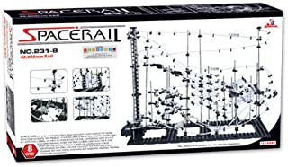 SpaceRail Game 40000mm, Roller Coaster Building Set, Marble Roller Coaster Kit with Steel Balls, Great Educational Toy for Boys and Girls, Level 8