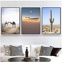 アート写真プリント熱帯砂漠動物キャンバス絵画動物ポスター自然壁アートプリント風景装飾写真現代の家30x40cmx3フレームレス