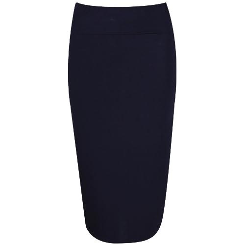 db5ce6a89553f PurpleHanger Women s Wiggle Pencil Tube Midi Skirt Plus Size