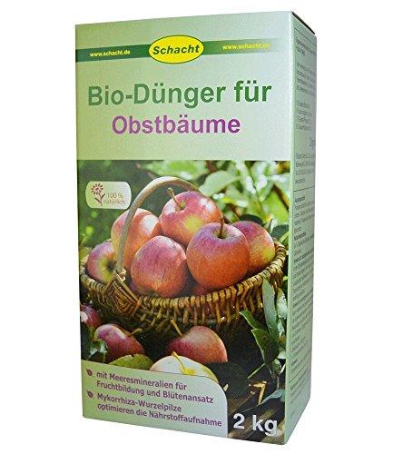Schacht Bio Dünger für Obstbäume 2 kg - 100{a8ae876f5ea488f88e644cf0c6c2eea50f72380e9ba882503e14dfd0f3dc6d65} organisch