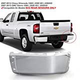 ACANII - For 2007-2013 Chevy silverado 1500 GMC Sierre 1500 Chrome Steel Rear Bumper End Cap w/o Holes Passenger Side