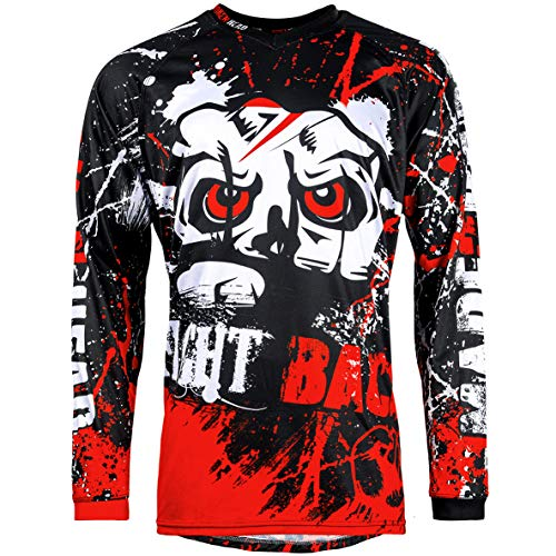 Broken Head MX Jersey Strike Back Rot - Langarm Funktions-Shirt Für Moto-Cross, BMX, Mountain Bike, Offroad - Größe S