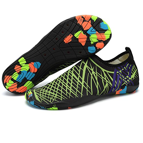 Zapatos de Agua Zapatillas Hombre del Deporte de Agua(Verde-EU35)