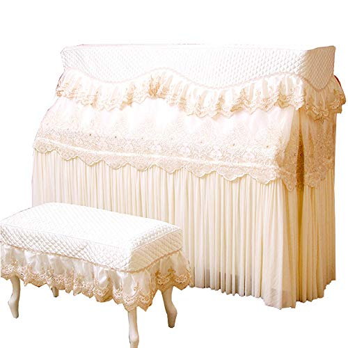 Learn More About BWAM-hom Piano Keyboard Dust Cover Piano Full Cover Luxury European Lace Fabric Dus...