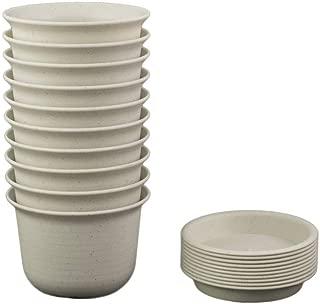 Truedays 5.9'' Plastic Nursery Flower Pots with Pallet Set of 10 Pack,Marble White