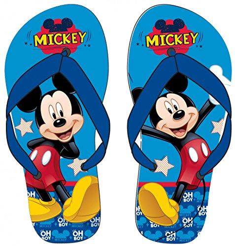 Disney Mickey Mouse Flip Flops/Strandschuhe in verschiedenen Größen, Motiv:Mickey Mouse, Größe:31/32